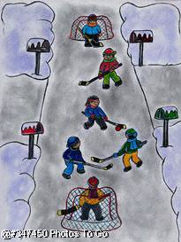 Illustration: Street hockey